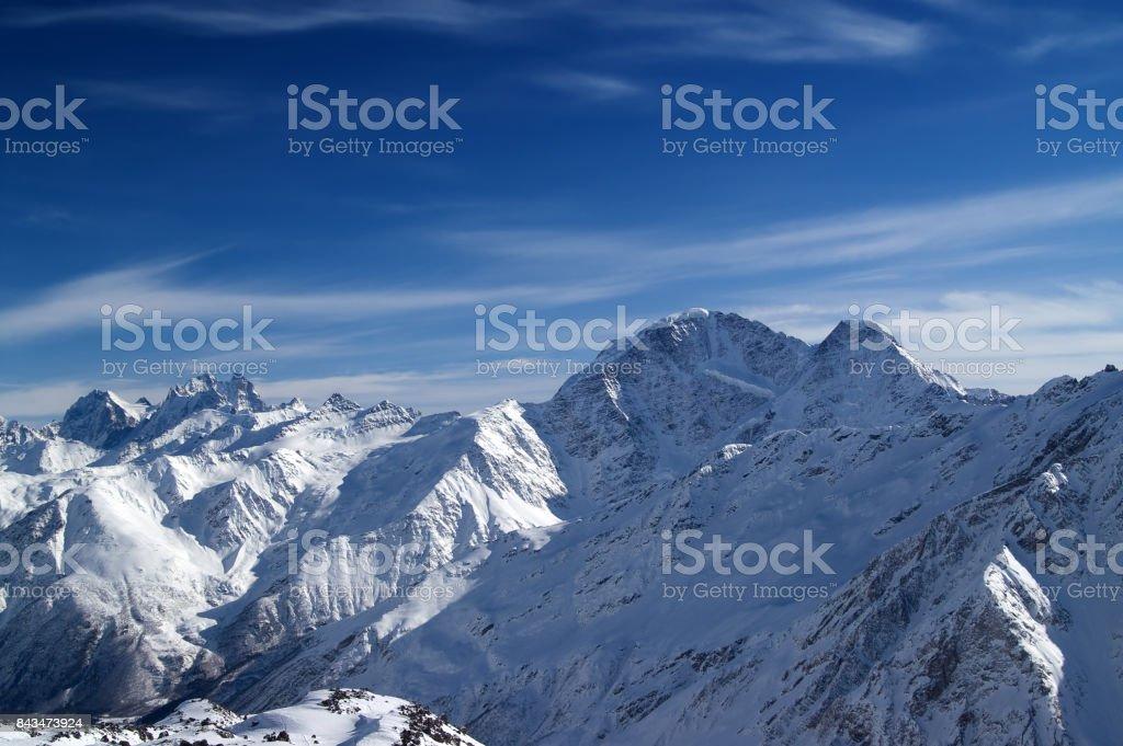 Caucasus Mountains. Elbrus region. stock photo