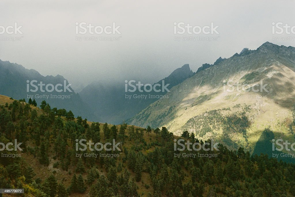 Caucasus Mountains in Svaneti stock photo