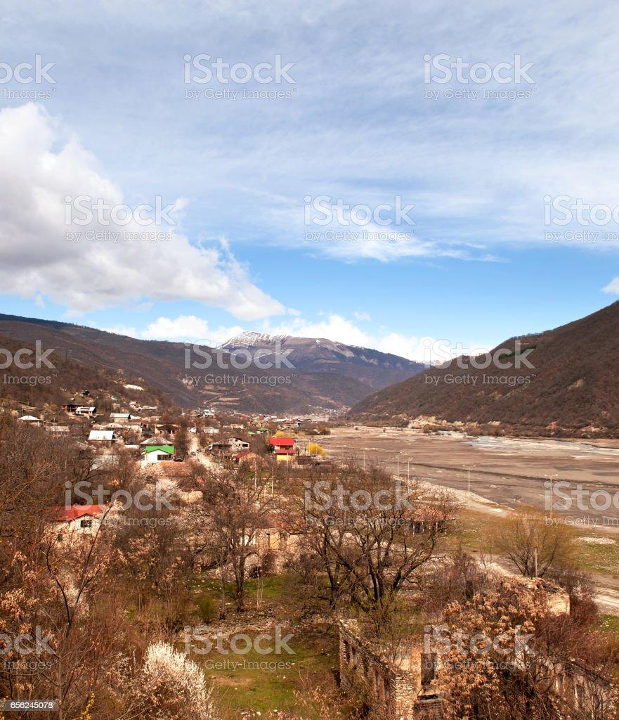 Caucasus Mountains of Georgia stock photo