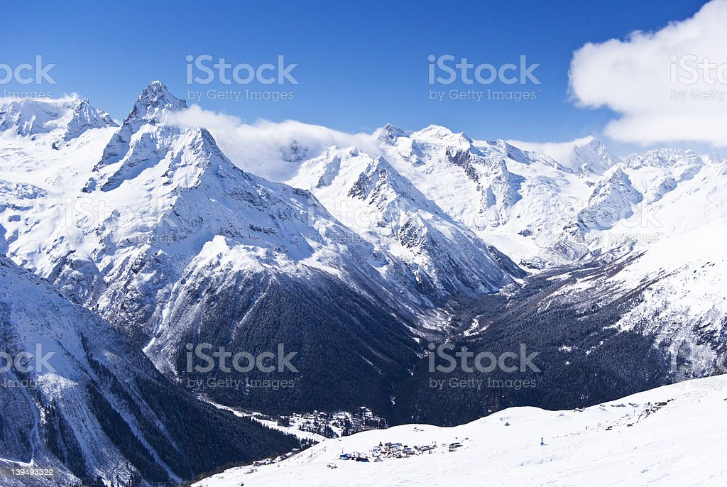 Caucasus Russia royalty-free stock photo