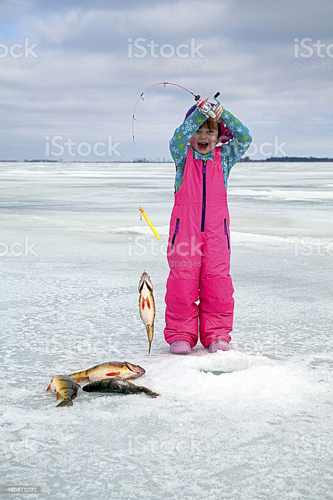 I Caught a Big One! royalty-free stock photo