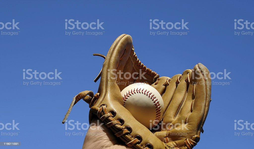 Caught Baseball Landcape royalty-free stock photo