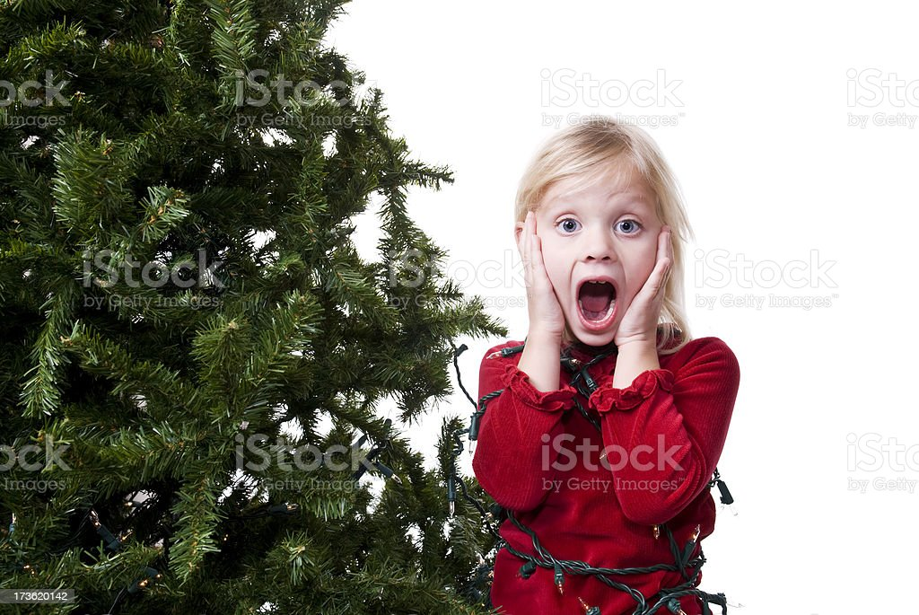 Gefangen von Weihnachten Lizenzfreies stock-foto