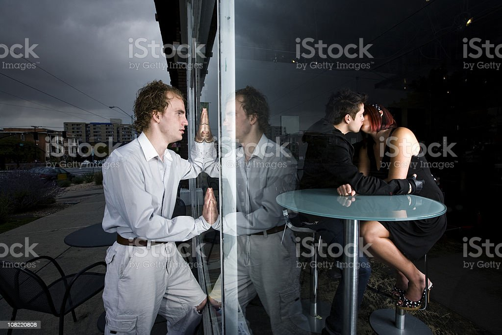 Caught Cheating royalty-free stock photo