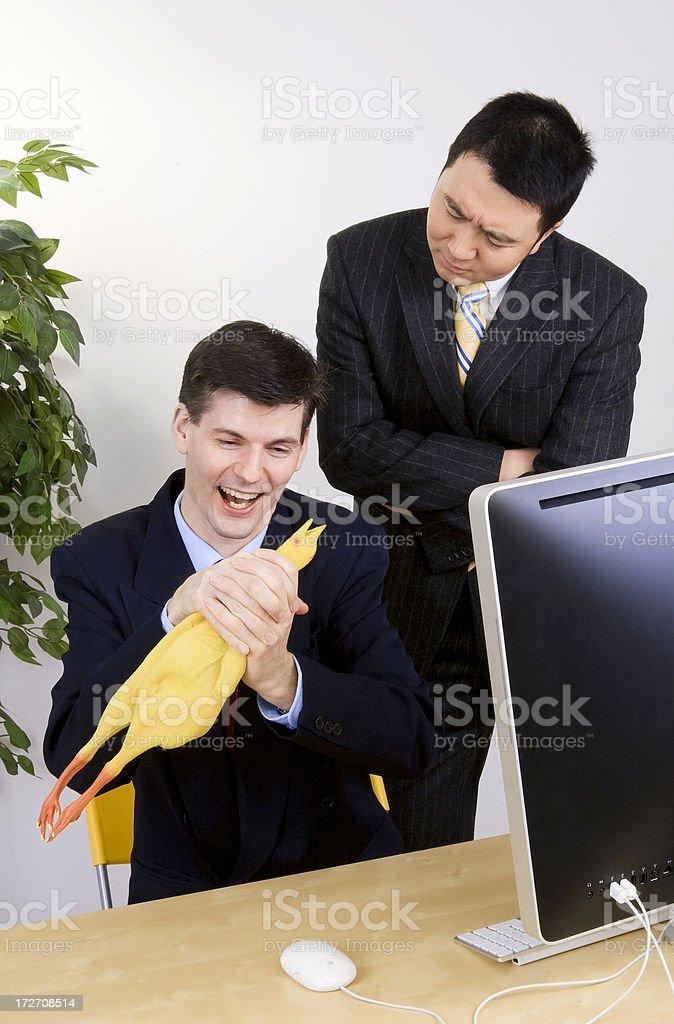 Caught Choking The Chicken stock photo