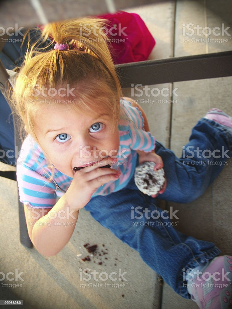 Caught Eating stock photo