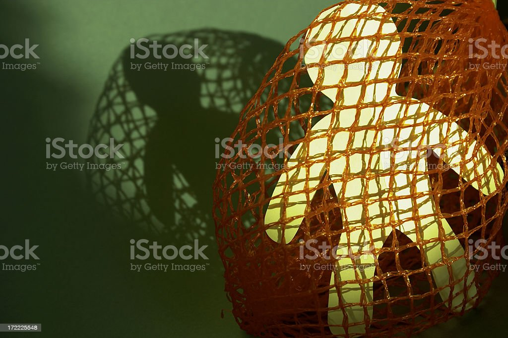 Caught in a net - 3 stock photo