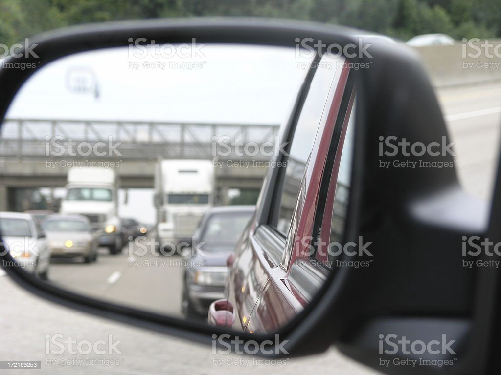 Caught in a traffic jam royalty-free stock photo