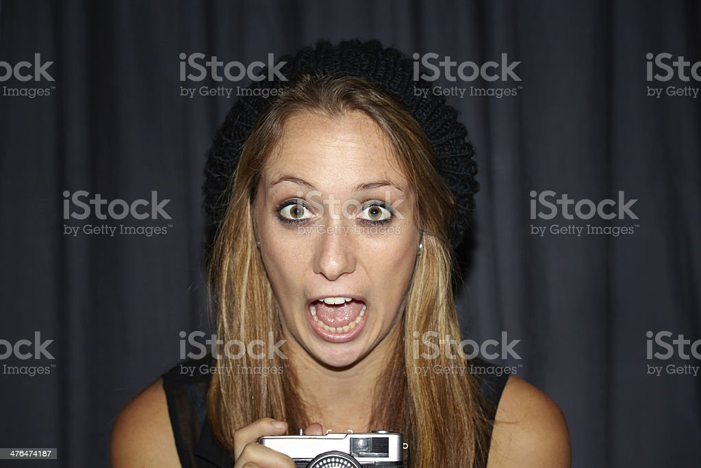 Caught in the act! royalty-free stock photo