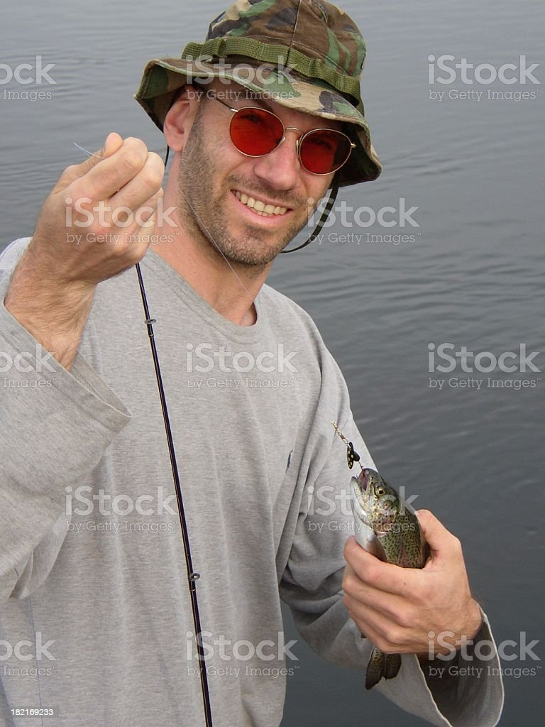 caught like a trout stock photo