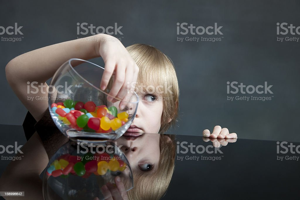 Caught Red Handed stock photo
