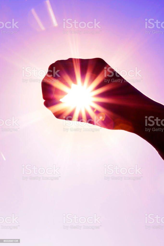 Caught the sun stock photo