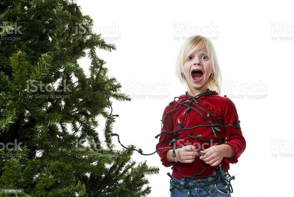 Caught in Christmas-englische Redewendung Lizenzfreies stock-foto