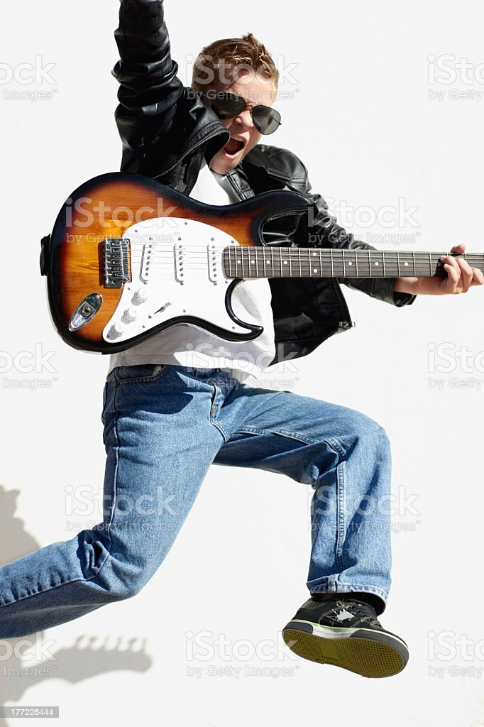 Caught up in the music! royalty-free stock photo