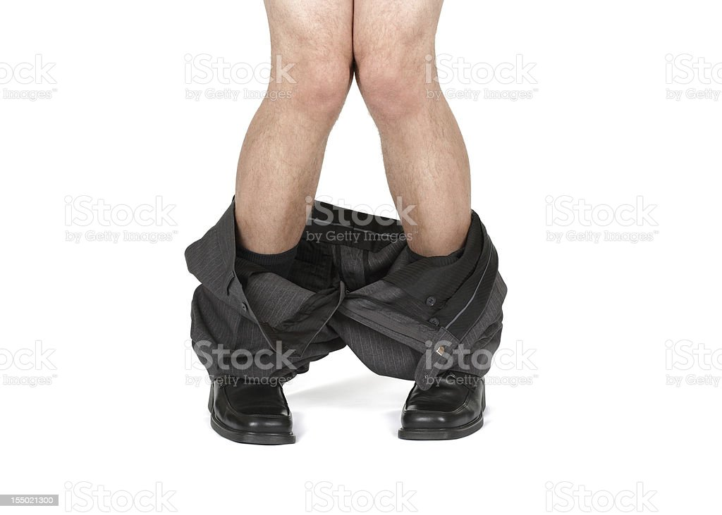 Caught with your pants down royalty-free stock photo
