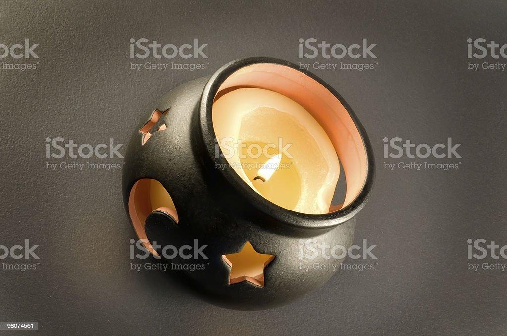 Cauldron and flame royalty-free stock photo
