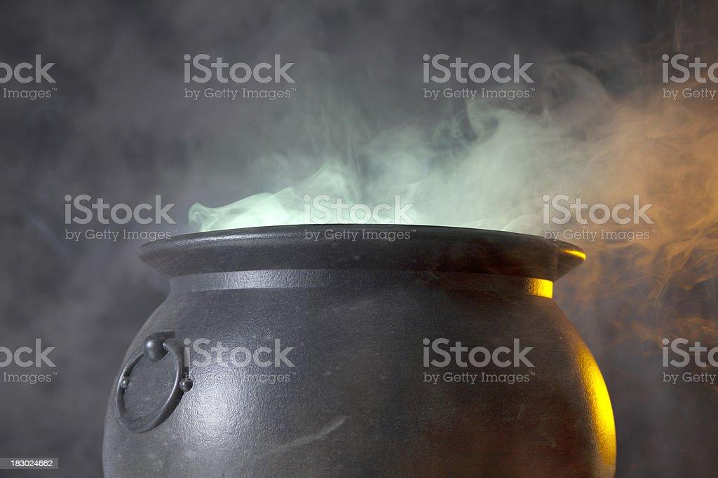 Cauldron stock photo