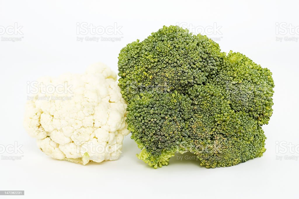 Cauliflower and Broccoli royalty-free stock photo