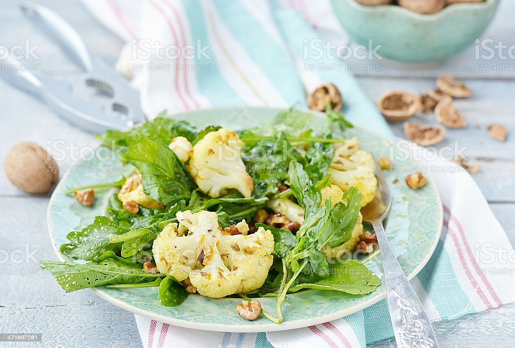cauliflower and ruccola salad royalty-free stock photo