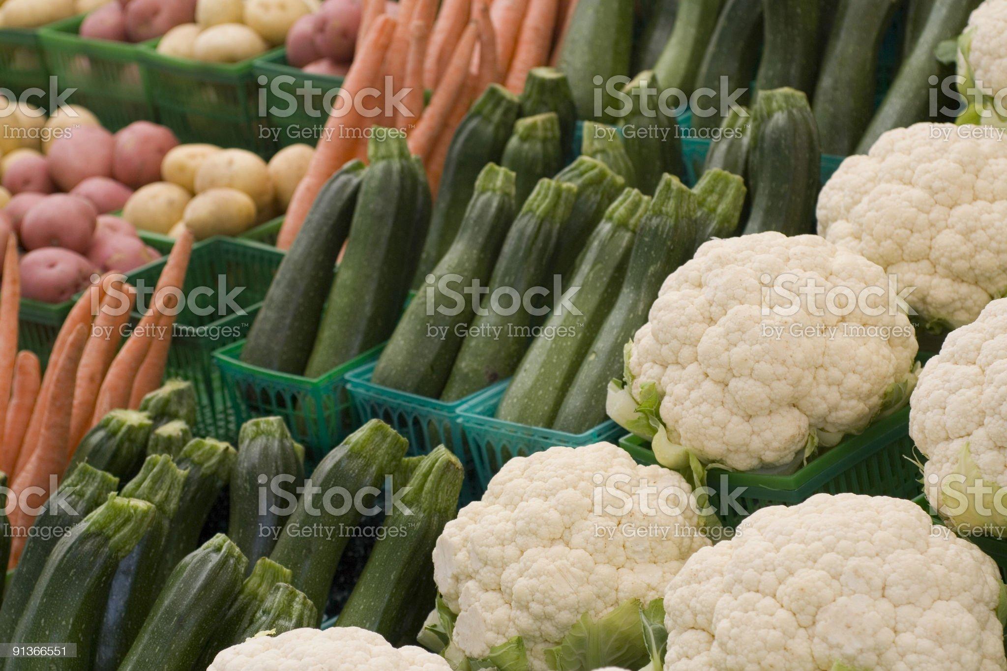 Cauliflower and Zucchini royalty-free stock photo