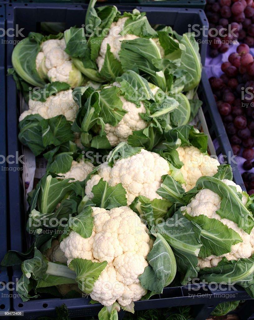 Cauliflower at farmers market royalty-free stock photo