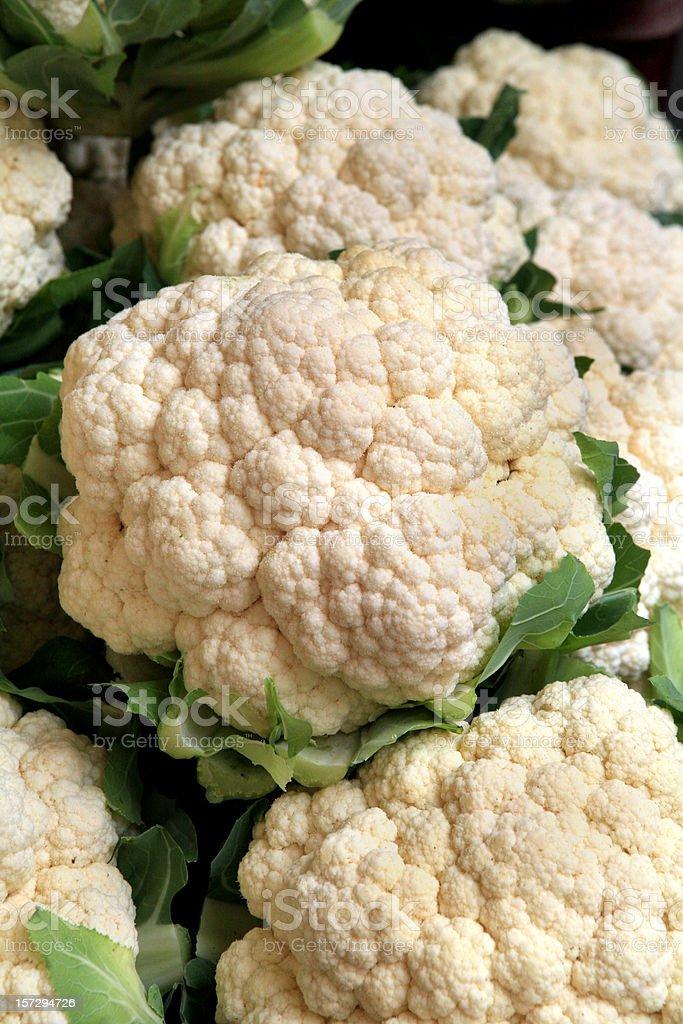 Cauliflower at Market royalty-free stock photo