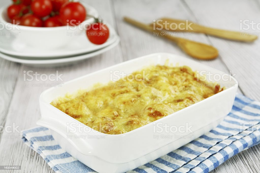 Cauliflower baked with cheese royalty-free stock photo