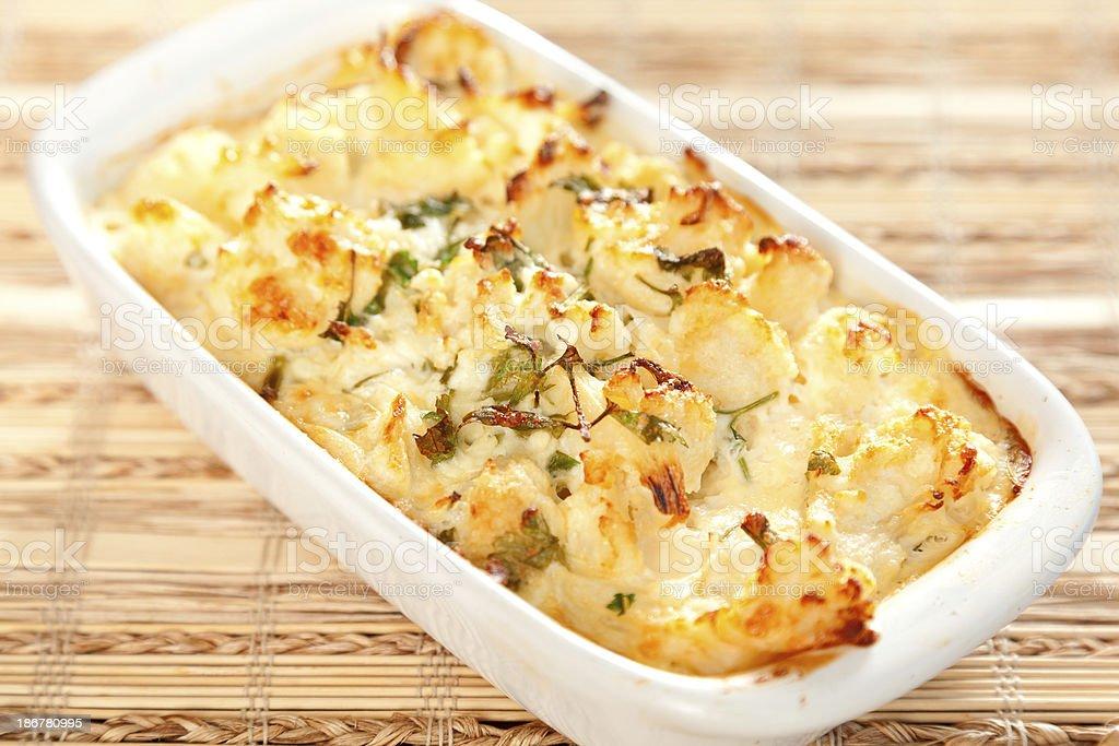 Cauliflower casserole royalty-free stock photo