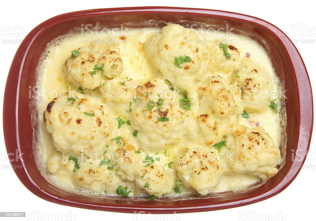 Cauliflower Cheese royalty-free stock photo