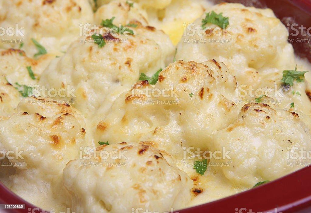 Cauliflower Cheese royalty-free stock photo