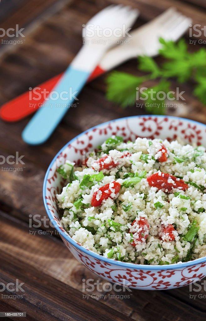 Cauliflower couscous royalty-free stock photo