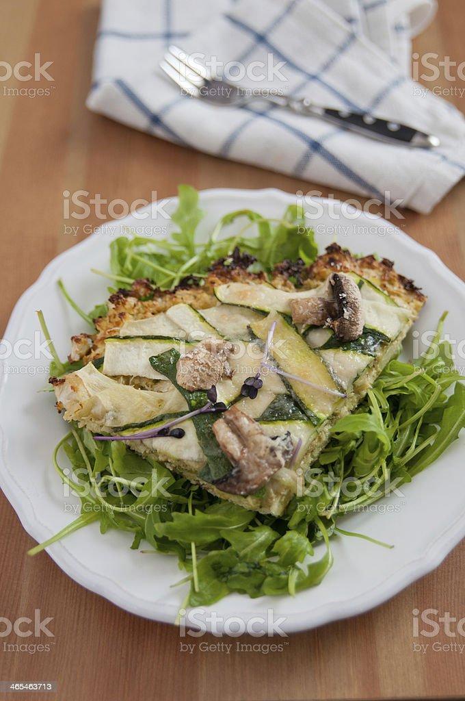 Cauliflower Crust Pizza stock photo