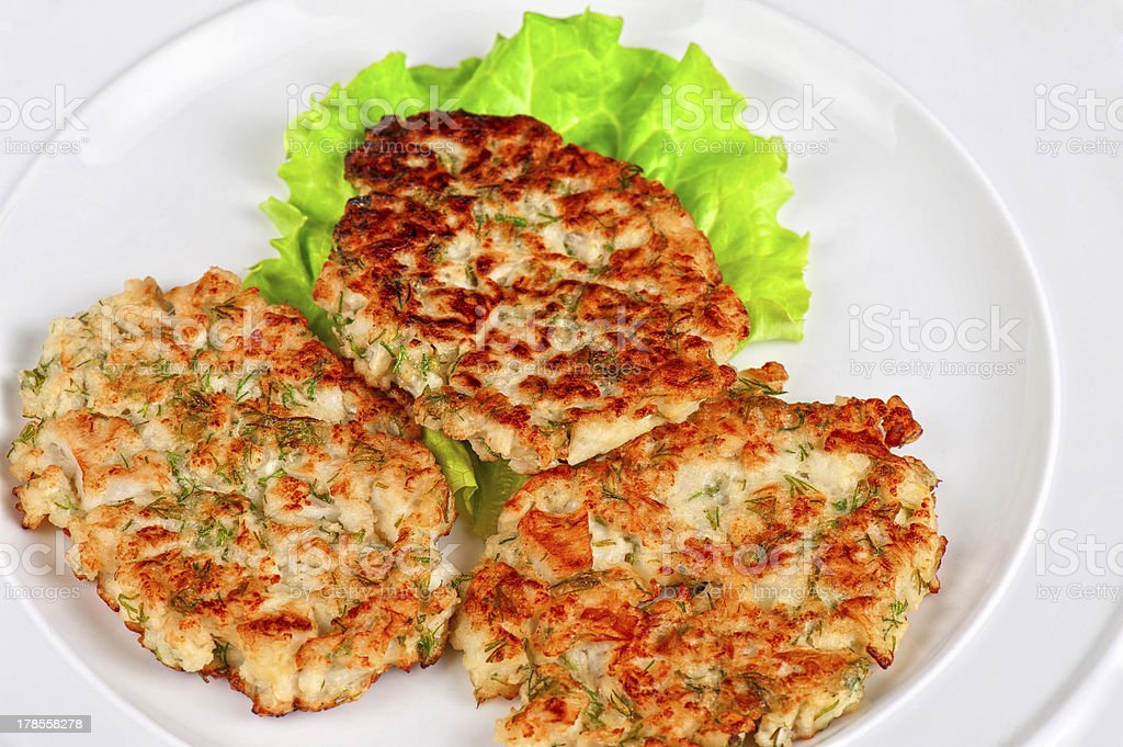 cauliflower cutlets with apples royalty-free stock photo