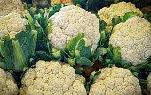Cauliflower for sale at the farmer's Market