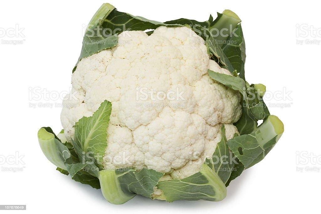 Cauliflower isolated on white royalty-free stock photo