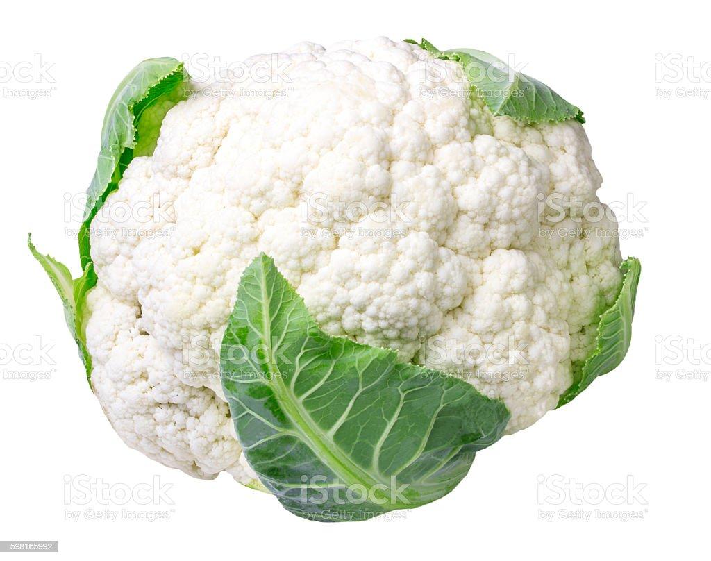 Cauliflower isolated on white stock photo