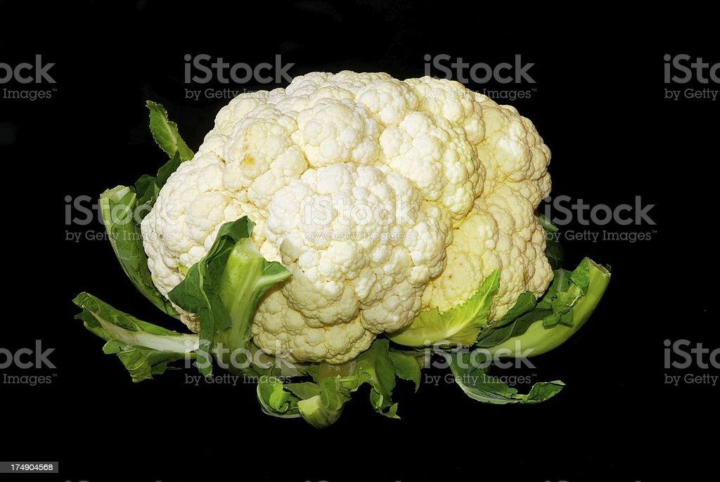 Cauliflower on black royalty-free stock photo