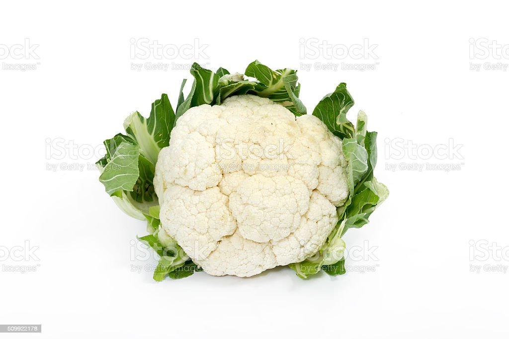 Cauliflower on white stock photo