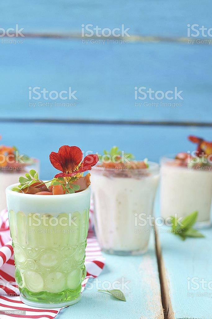 cauliflower panna cotta royalty-free stock photo