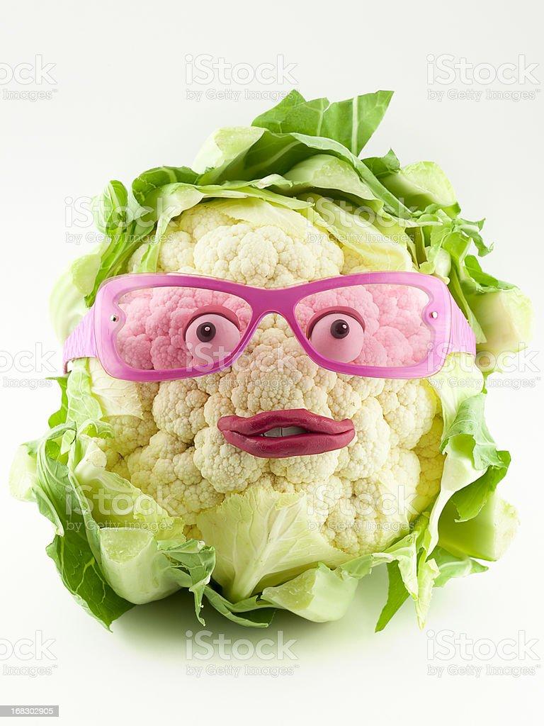 Cauliflower portrait stock photo