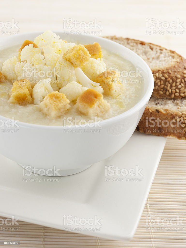 Cauliflower Soup royalty-free stock photo