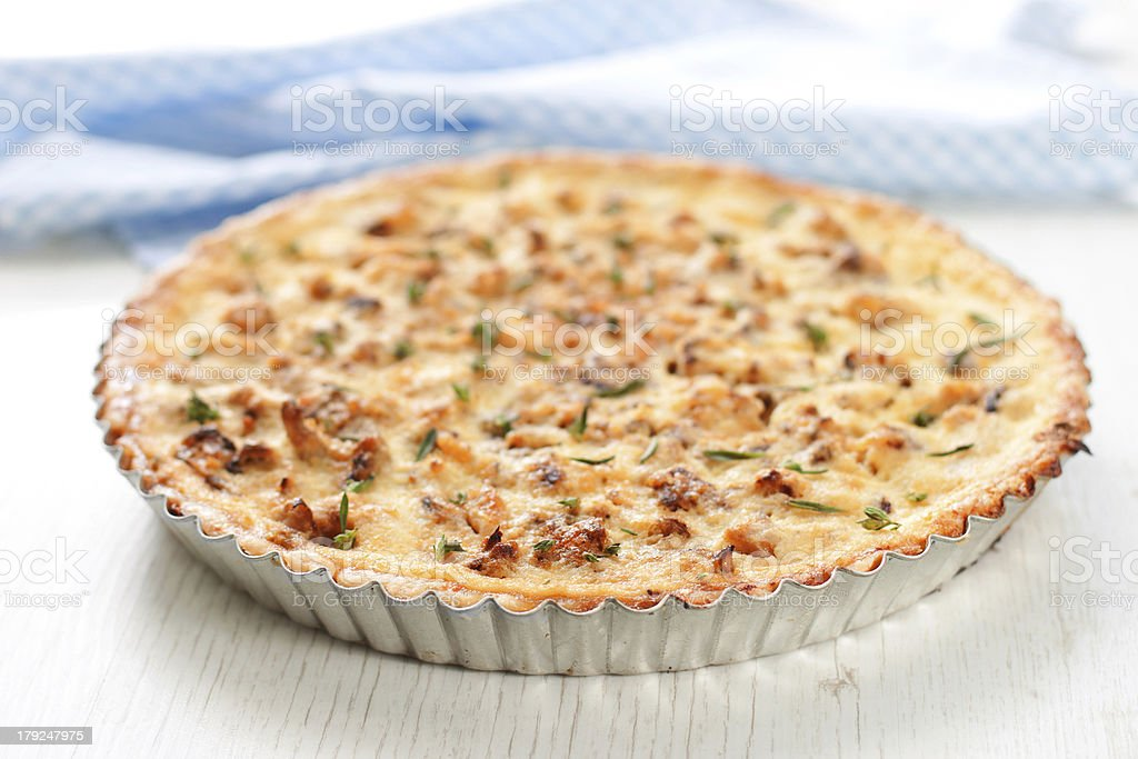 Cauliflower tart royalty-free stock photo