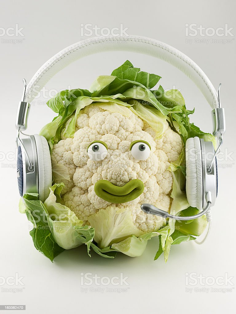 Cauliflower teleoperator royalty-free stock photo