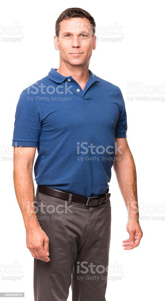 Causal Businessman on White stock photo