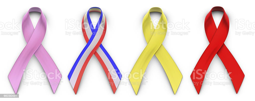 Cause Advocacy Ribbons stock photo