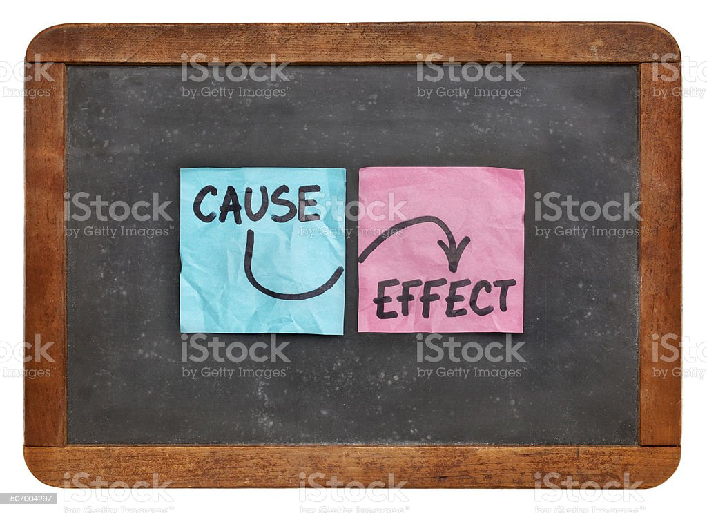 cause and effect concept stock photo