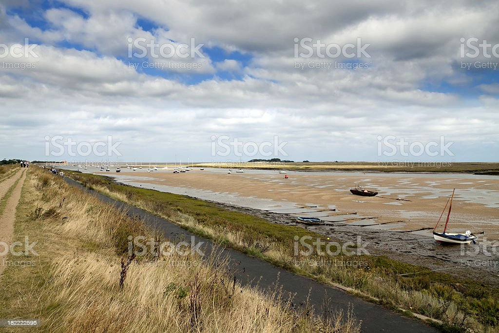 Causeway at Wells next the Sea stock photo