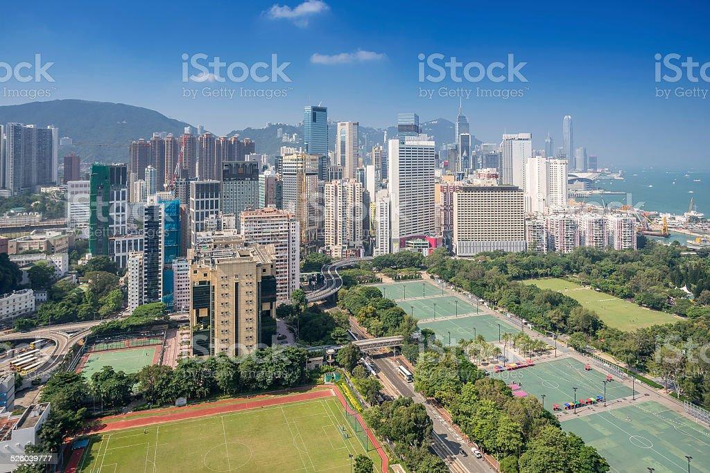 Causeway Bay in Hong Kong stock photo