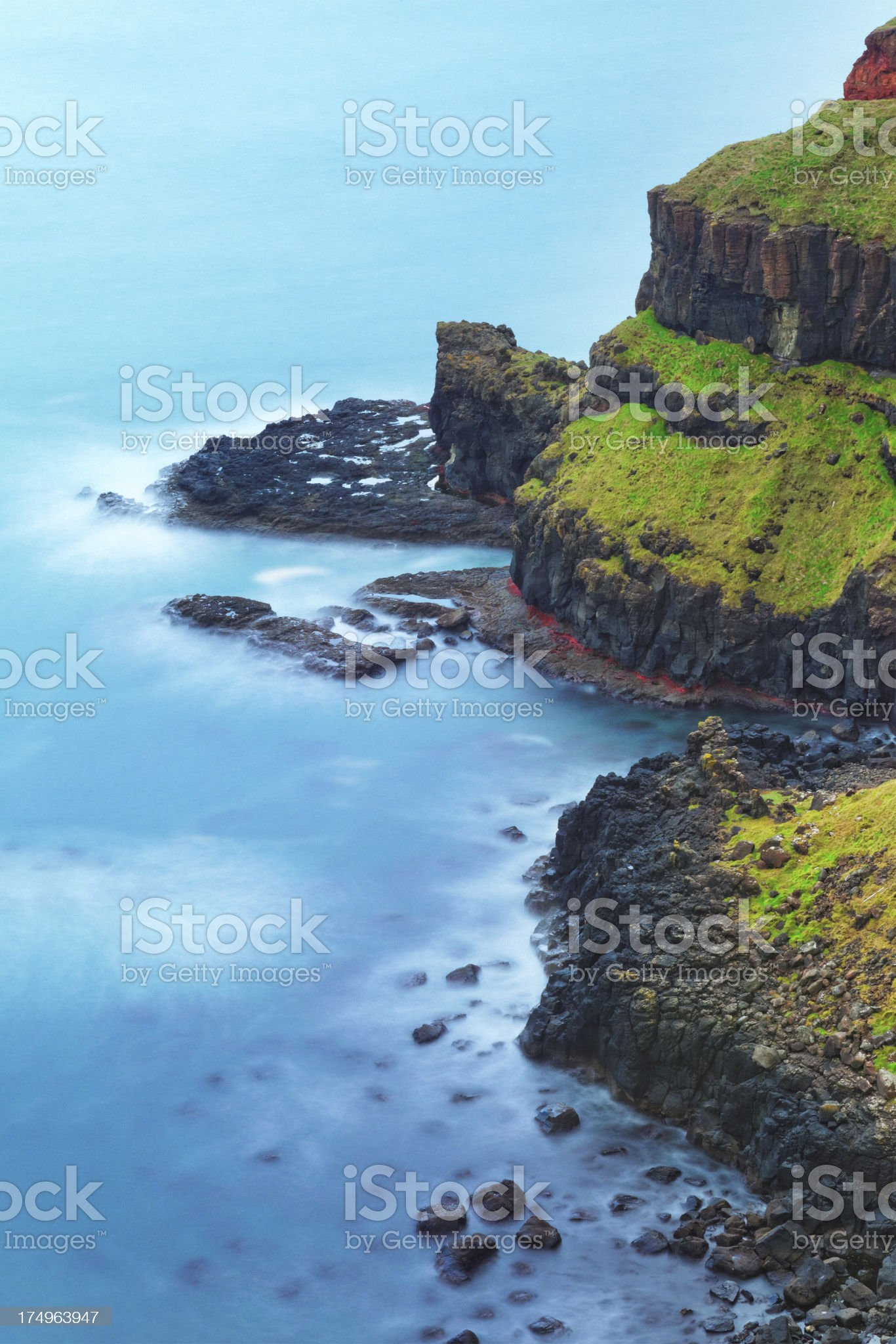 Causeway Coastline in Northern Ireland royalty-free stock photo