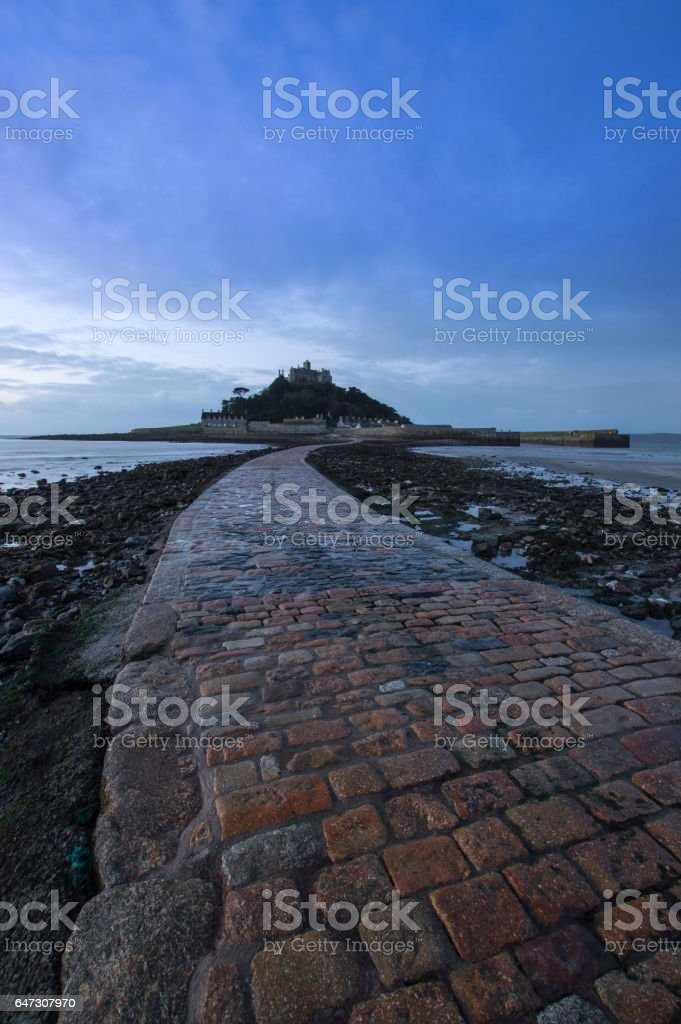 Causeway Leading to St Michael's Mount stock photo